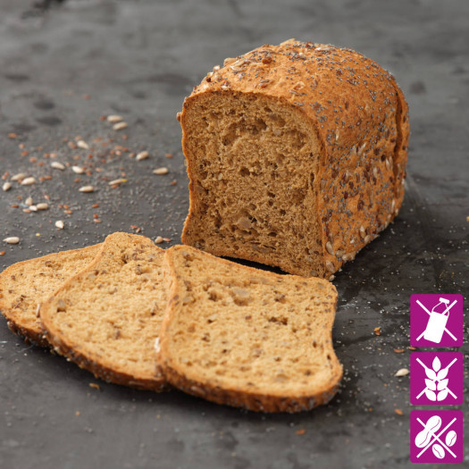 Donker meergranenbrood vitaal glutenvrij